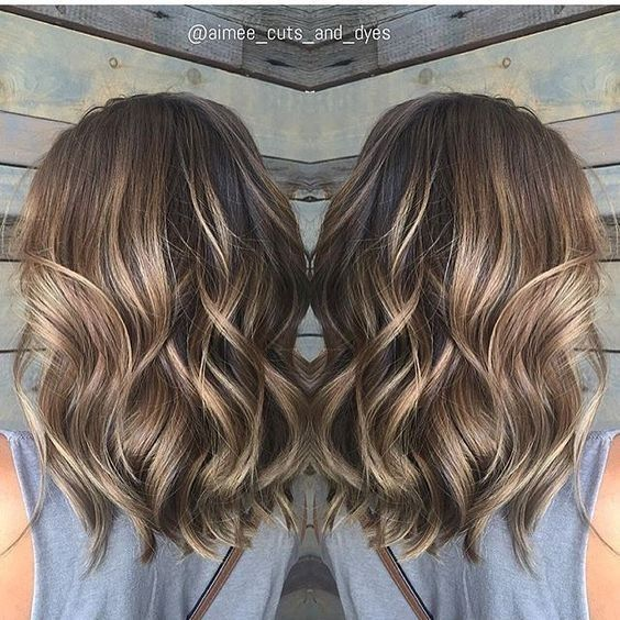 Balayage Medium Wavy Hairstyles - Lovely Medium Length Haircuts