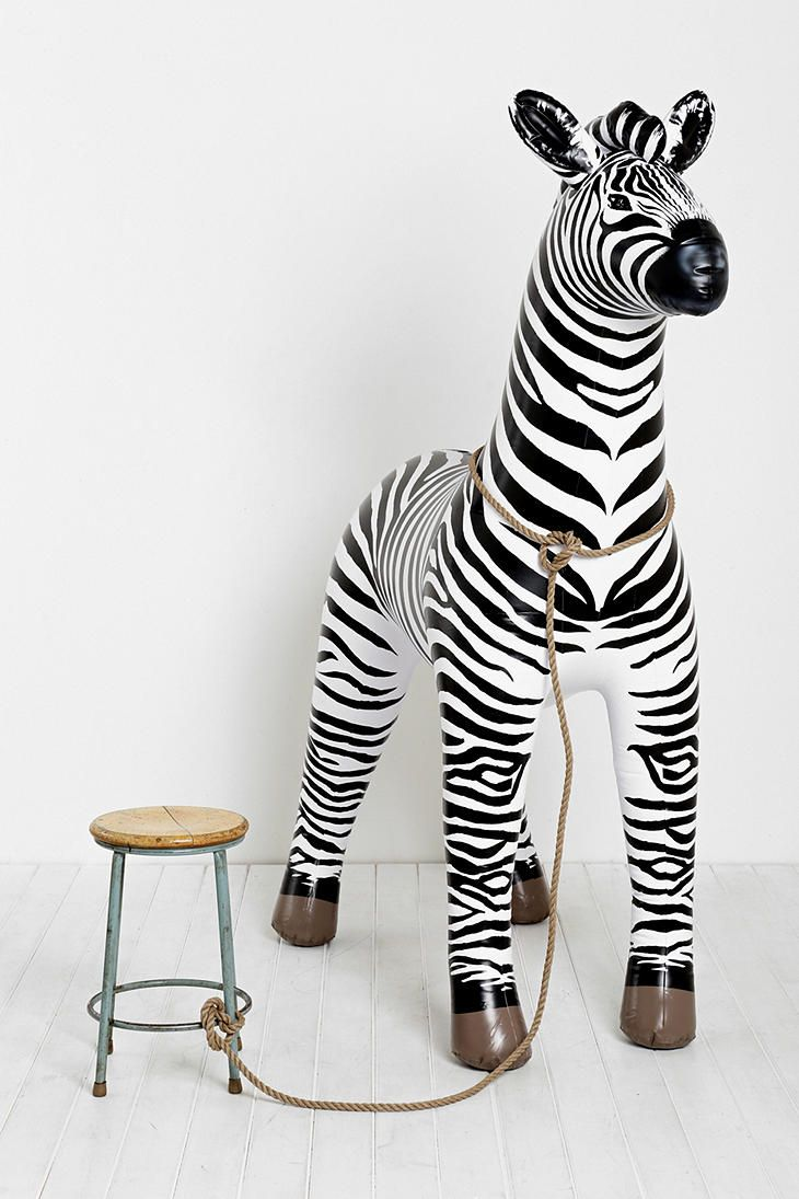 Oversized Inflatable Zebra | Is it weird that I want this in my office?