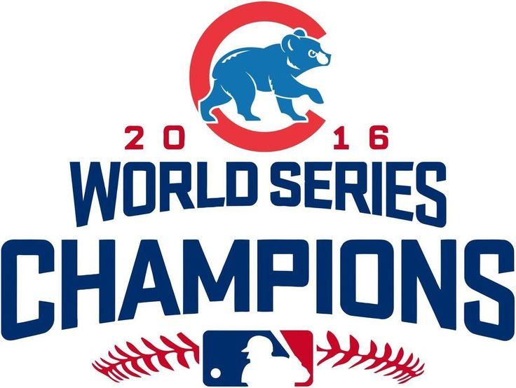 MLB Champions 2016 Chicago Cubs World Series Decal printing patch