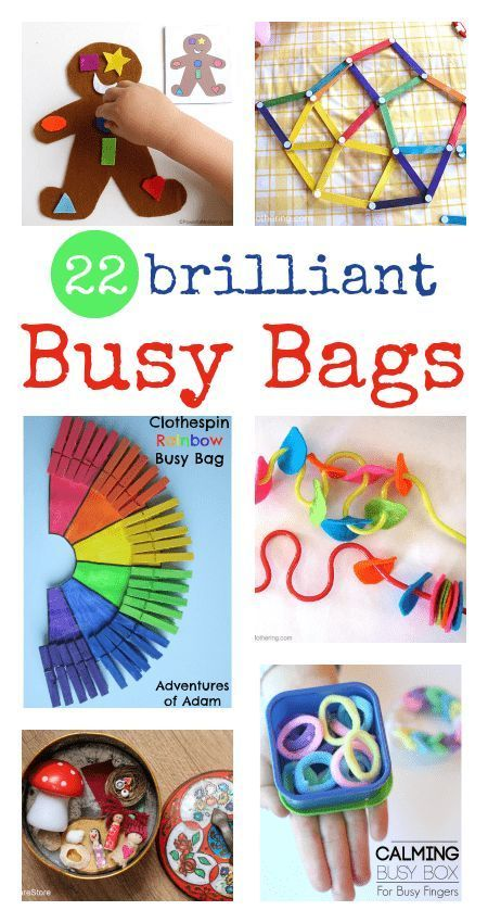 22 brilliant busy bags for babies, toddlers and preschool