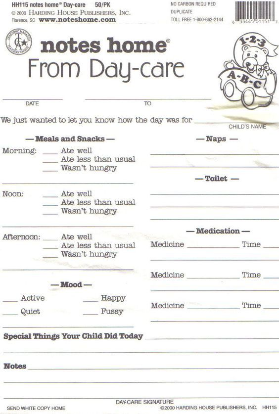 17 best ideas about Infant Daily Report on Pinterest | Infant ...