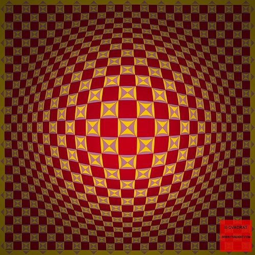Op Art style image with high 3d effect.
