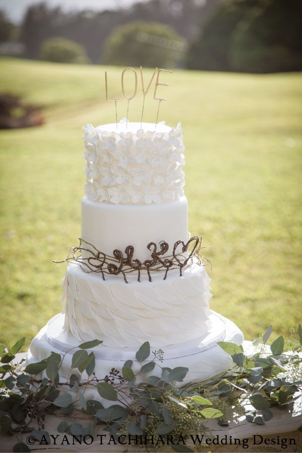 Hawaii,Sunset Ranch Wedding_ハワイウエディング_produced by AYANO TACHIHARA Wedding Design cake,