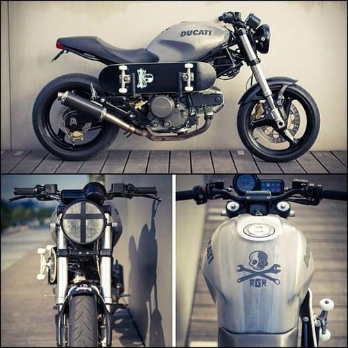 Skate Influenced Custom Ducati Monster 600 by RGK