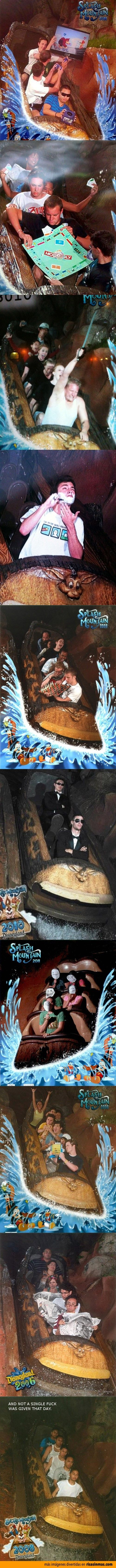 Fotos graciosas de Splash Mountain en Disneyland.