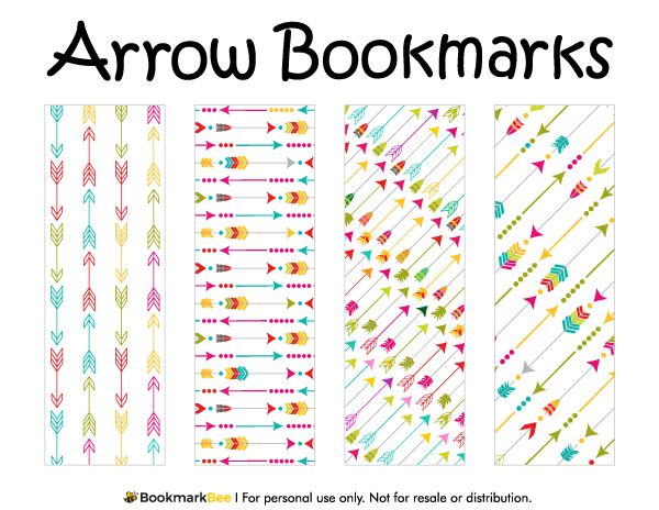 Free printable arrow bookmarks download the pdf template at http bookmarkbeecom bookmark for Printable bookmarks pdf