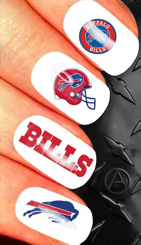 35 Nail Art Decals  NFL Buffalo Bills nail by GreenTeamStudio