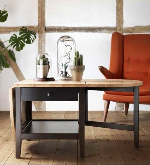 New IKEA 2015 Catalog. ARKELSTORP drop leaf coffee table. Great idea.