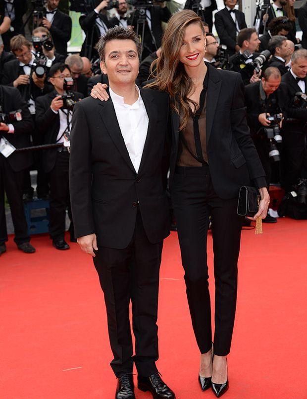 Thomas Langmann et sa femme Céline Bosquet. Festival de Cannes 2014