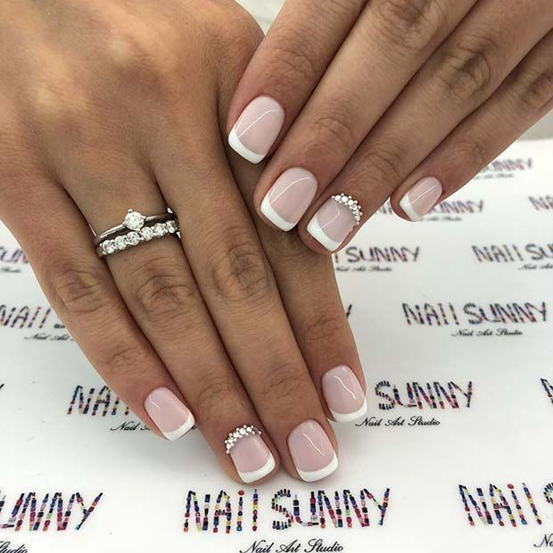 43 Pretty Wedding Nail Ideas For Brides To Be With Images