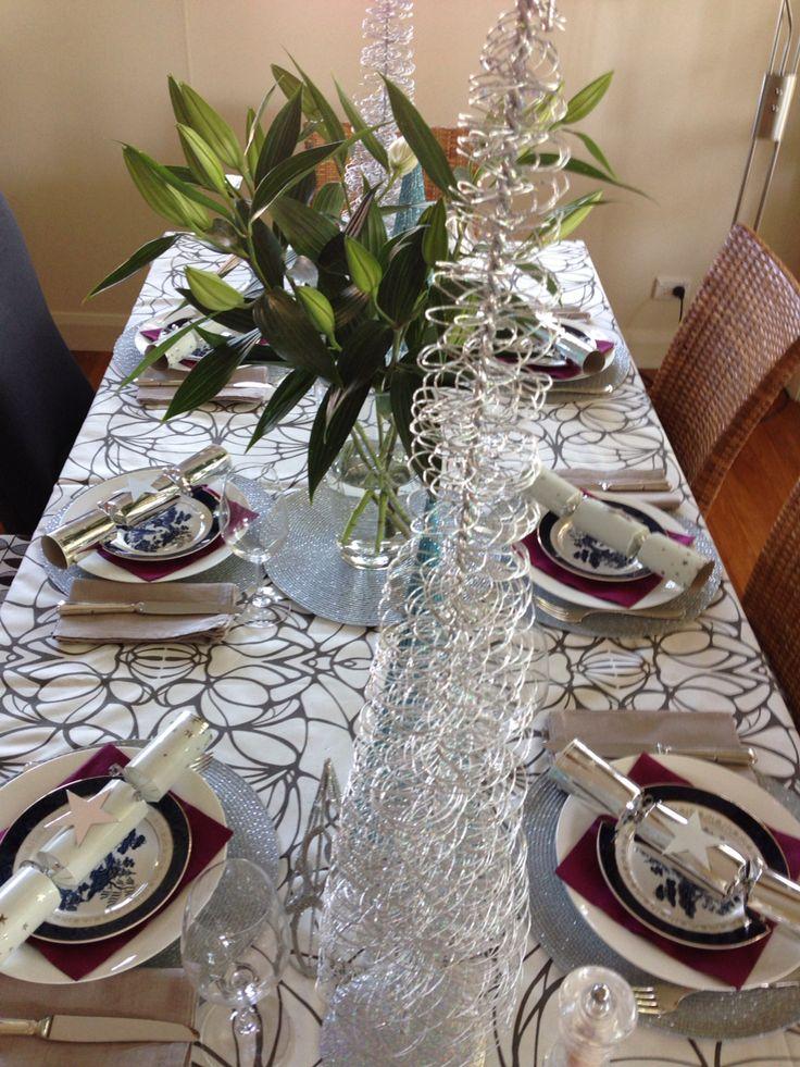 Xmas table setting