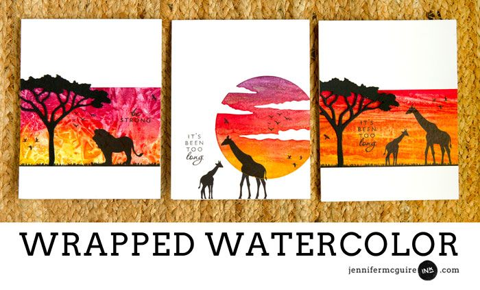 Wrapped Watercolor + Blog Hop + GIVEAWAY - Jennifer McGuire Ink