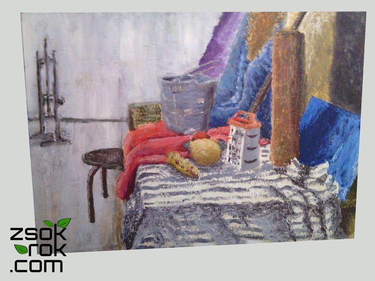 Obraz olejny na tekturze pilśniowej, format A3. Skontaktuj się, aby kupić: 665 166 497