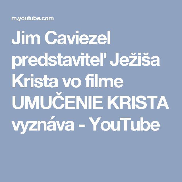 Jim Caviezel predstaviteľ Ježiša Krista vo filme UMUČENIE KRISTA vyznáva - YouTube