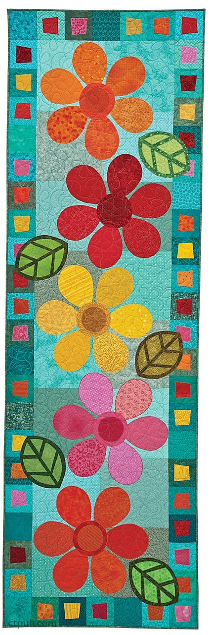 Kim Schaefer's Skinny Quilts book with this and fall leaf quilt and others