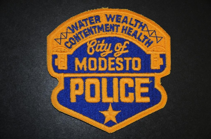 Modesto Police Patch, Stanislaus County, California (Vintage Pre-2014 Issue)