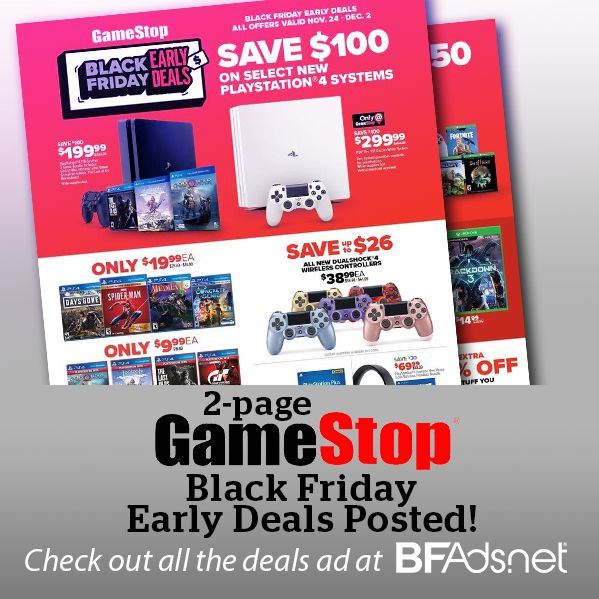 Gamestop Black Friday Early Deals Posted Black Friday Black Friday Ads Friday