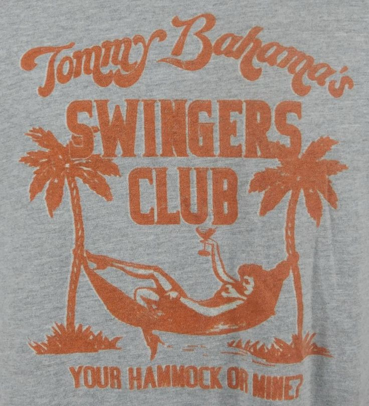 Tommy Bahama Relax Swingers Club Your Hammock or Mine Graphic T-shirt L Gray #TommyBahama #graphic