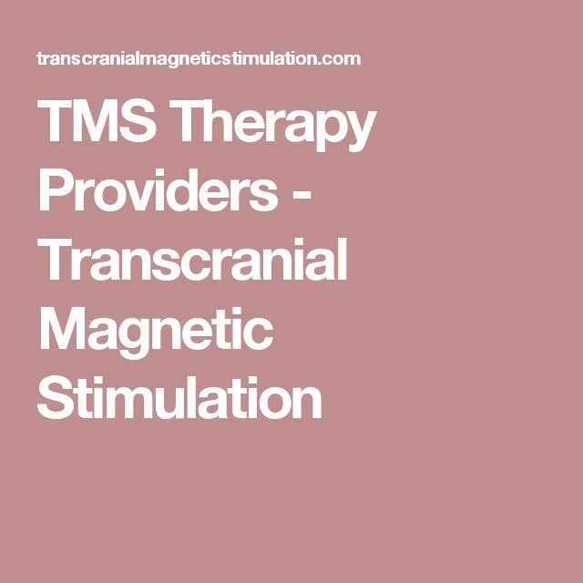 TMS Therapy Providers - Transcranial Magnetic Stimulation