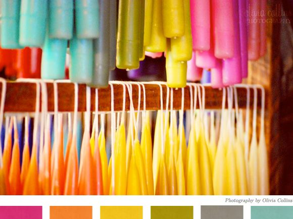 great color palette for a photo shoot. Love the neutral gray/olive with the brights.