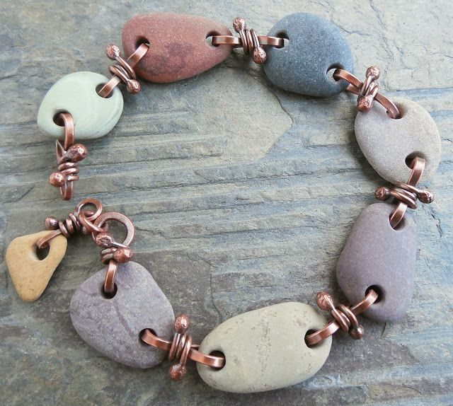 Beach stones and copper bracelet // The Cerebral Dilettante