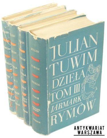 Tuwim Julian Dzieła t. I-III (4 woluminy)  Warszawa 1955-58, Wyd. Czytelnik