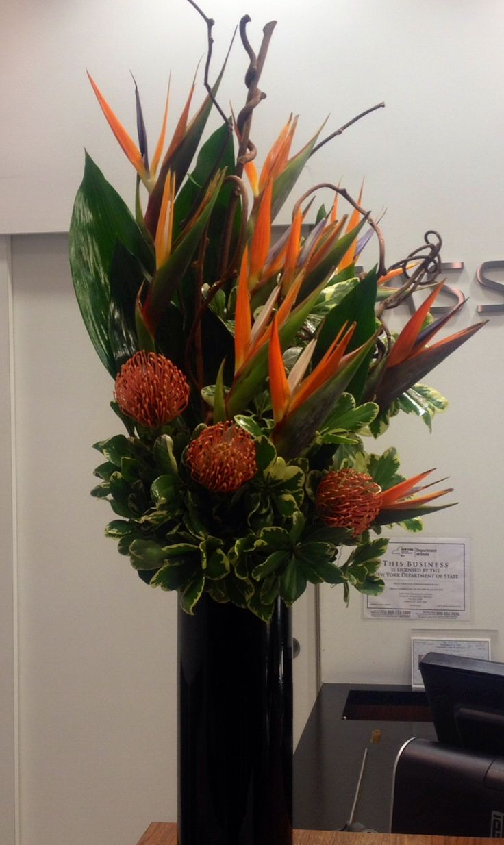 Weekly Lobby Flowers With Birds Of Paradise In A Variety