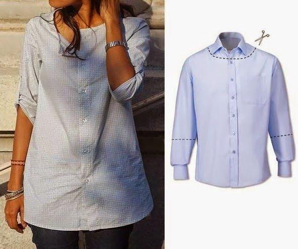 Mais uma ideia para reaproveitar camisas Inspiração: RECICLAGEM DE ROUPA - Moldes Moda por Medida