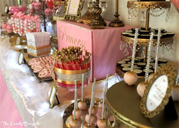 Pink Candy Buffet | Princess Party | Royal Candy Table ...