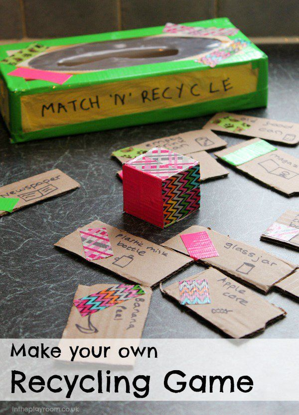 Make your Own Recycling Game - In The Playroom