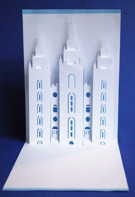 Templo Mormón de lago salado tarjeta pop-up por PeadenScottDesigns