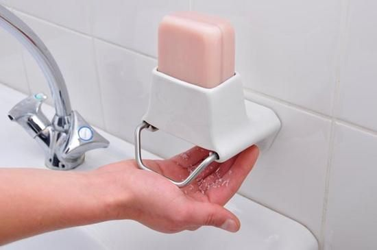 Soap Flakes bar soap dispenser - no more slippy soap bars escaping across the floor!!