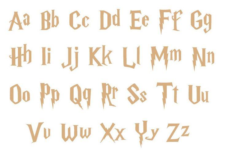 Unfinished Wood Letters - Harry Potter Style Lightning Bolt Font