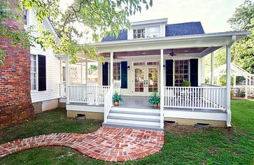 White - traditional - exterior - charlotte - Vin Yet Architecture - i love this mother-in-law suite