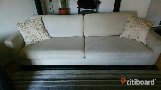 3 sits soffa, 2 fåtöljer, 4 köksstolar  Halmstad