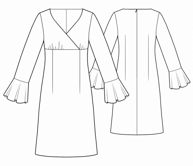 Dress - Sewing Pattern #5528 - $2.49 (Enter your measurements for a custom-size pattern!)