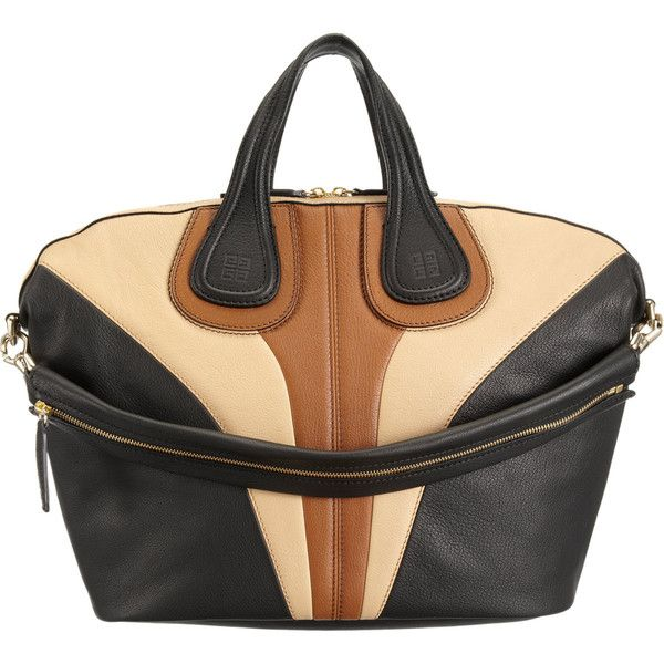 Givenchy Tricolor Medium Nightingale Satchel (7.370 BRL) ❤ liked on Polyvore featuring bags, handbags, purses, borse, satchel purses, givenchy handbags, handle satchel, beige purse and man bag