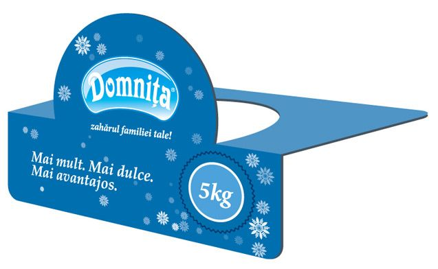 Poster and shelf-talker for the new Domniţa product