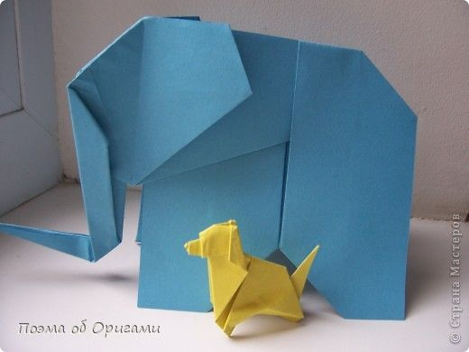 Мастер-класс Оригами Слон и Моська Бумага фото 1