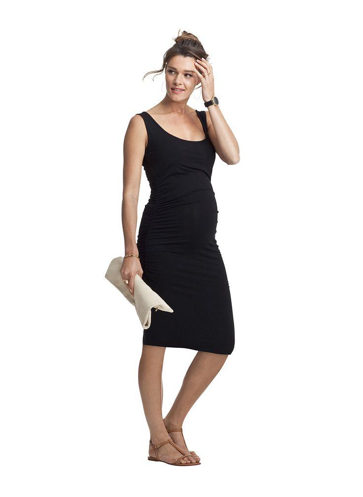 Sleeveless fitted maternity dress #apsobibi #isabellaoliver #littleblackdress #daytonight