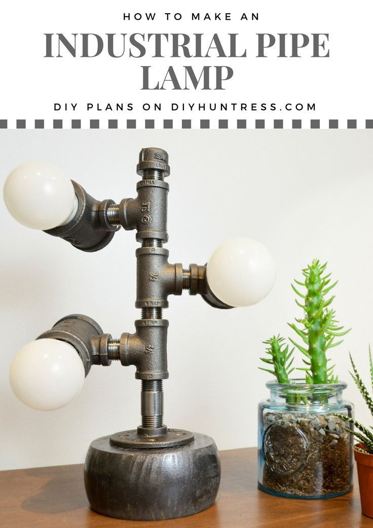 DIY Woodworking Ideas DIY Industrial Lamp made from a $20 Wine Rack Kit from #HomeDepot!