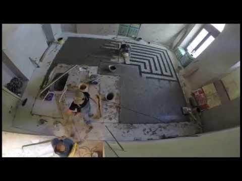 how to made terrazzo floor Nh Carlina - YouTube