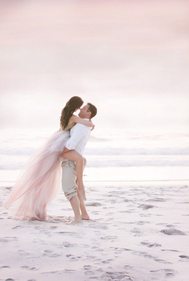 Beach wedding engagement photo inspiration. Gown: Janita Toerien Wedding Gowns |  Photographer: Claire Harries | Hair and Make up: Vicky Wolmarans