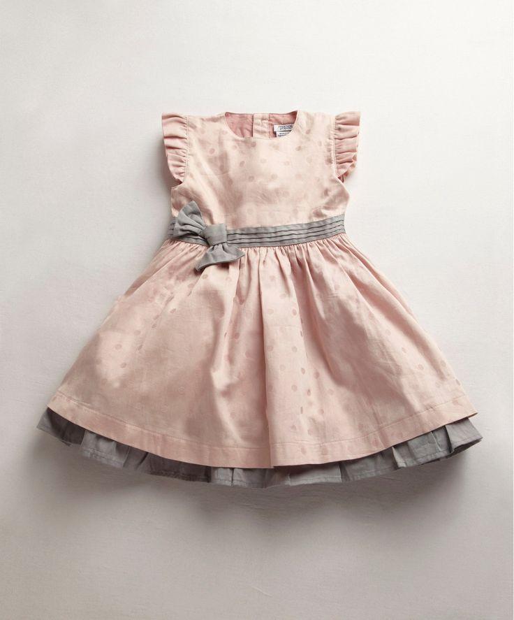 Girls Pink Jacquard Dress - Fashion (0 - 4 Years) - Mamas & Papas