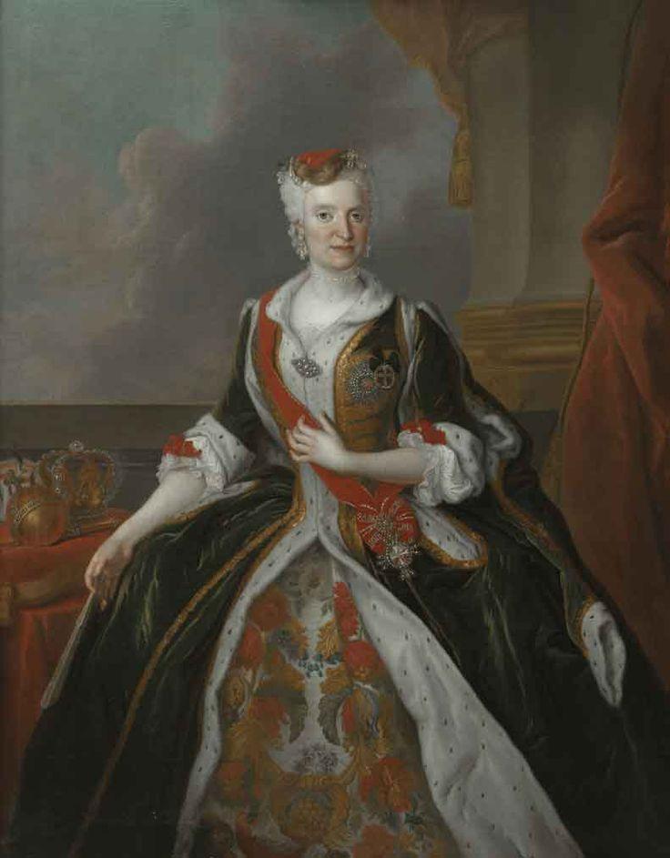 Louis de Silvestre, Królowa Maria Józefa w stroju polskim z 1737 r., Muzeum Pałac w Wilanowie.