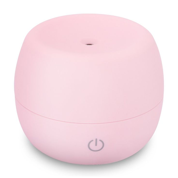 Ultrasonic Humidifier Aroma Essential Oil, USB 300mL Output per Day Ultrasonic Cool Mist Humidifier, Nursery Humidifier Portable Humidifier for Office Home Bedroom Study Yoga Spa Pink