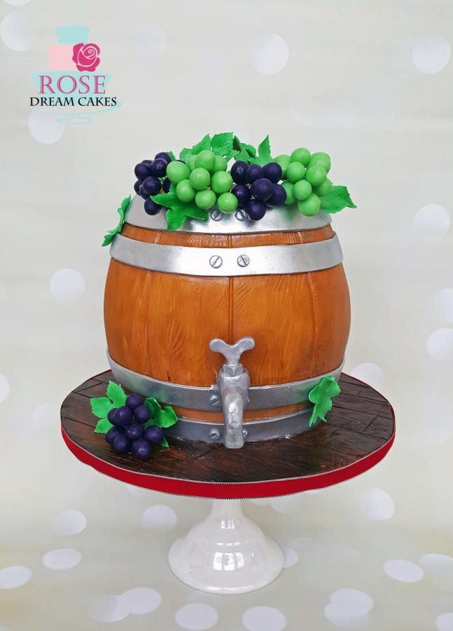 Wine Barrel Cake by Rose