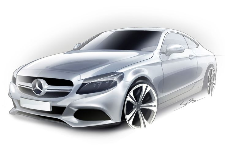 Highlights of the new Mercedes-Benz C-Class Coupé - https://3d-car-shows.com/highlights-of-the-new-mercedes-benz-c-class-coupe/  Sporty coupé design with long bonnet, low greenhouse, distinctive front end with diamond grille, sporty rear end and frameless doors. Suspension lowered by 15 millimetres with 17-inch wheels. It is the only vehicle in the segment that is optionally available with AIRMATIC air suspension. High ...