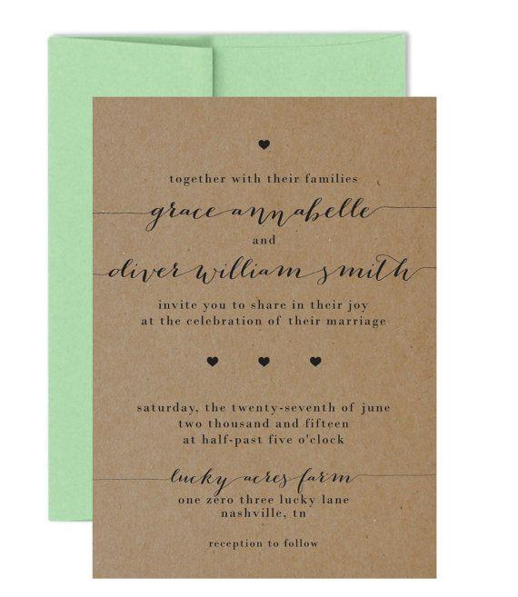 16 best Wedding Invitation Ideas images on Pinterest Invitation - fresh invitation wording reception