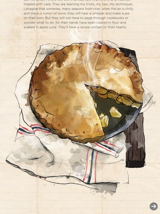 """""""And so I made an apple pie..."""" Written by Sarah Kieffer (http://thevanillabeanblog.com) Illustrated by Laura Ives"""